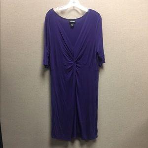 Lane Bryant Purple Twist Front Dress